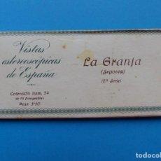 Fotografía antigua: LA GRANJA, SEGOVIA -VISTAS ESTEREOSCOPICAS DE ESPAÑA- 2ª SERIE, COLECCION Nº 54 - 15 VISTAS RELLEV. Lote 130788648