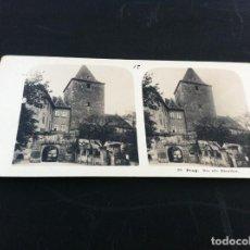 Fotografía antigua: FOTOGRAFÍA ESTEREOSCÓPICA (PRAGA. PRAG. DAS ALTE BURGTHOR) 18 X 9CM. 1904. Lote 131070948