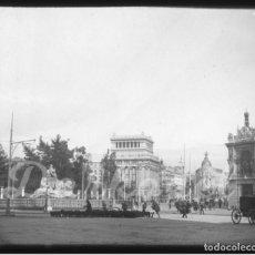 Fotografía antigua: MADRID- TRASHUMANCIA POR CIBELES - 1920- ESPECTACULAR Y RARA-. Lote 131455866