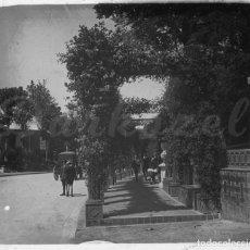 Fotografía antigua: MADRID-POSITIVO CRISTAL PARQUE RETIRO 1920-. Lote 131595338