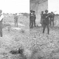 Old photograph - CAZA CACERIA - POSITIVO EN CRISTAL ESTEREOSCOPICO - AÑOS 1910-20 - 131895910