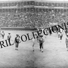 Fotografía antigua: VALENCIA - PLAZA DE TOROS - POSITIVO EN CRISTAL ESTEREOSCOPICO - AÑOS 1910-20. Lote 131901070