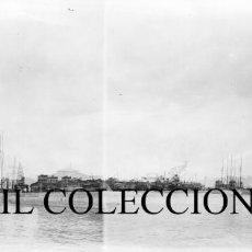 Fotografía antigua: VALENCIA - EL PUERTO - NEGATIVO EN CRISTAL ESTEREOSCOPICO - AÑOS 1910-20. Lote 131904314