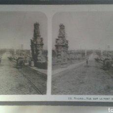 Old photograph - Estereoscopica.Madrid.Vista sobre el puente de Toledo - 133025822