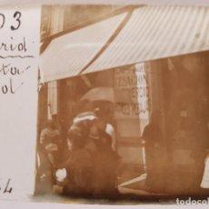 Fotografía antigua: ANTIGUA FOTOGRAFÍA CRISTAL ESTEREOSCOPICA PUERTA DEL SOL MADRID. Lote 133448386