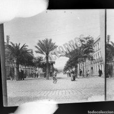 Fotografía antigua: PLACA ESTEREOSCOPICA ORIGINAL EN NEGATIVO. AÑO 1900 CIUDAD DEL SUR A IDENTIFICAR. Lote 133480453