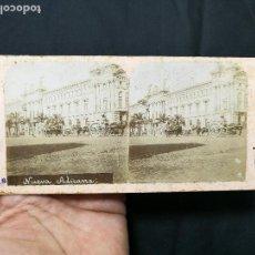 Fotografía antigua: ESTEREOSCÓPICA ALBÚMINA Nº 18 VISTAS DE BARCELONA NUEVA ADUANA. Lote 133808770
