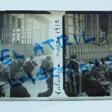 Fotografía antigua: VALENCIA - TIRO DE PICHON - POSITIVO EN CRISTAL ESTEREOSCOPICO - AÑO 1912. Lote 134163998