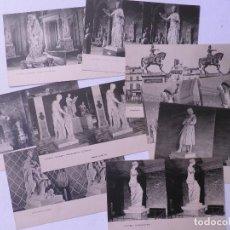 Fotografía antigua: 9 FOTOGRAFIAS-POSTAL CON IMÁGENES DE ESCULTURAL DEL LOUVRE Y OTRAS ,HELIOTYPIE E LE DELEY.PARÍS. Lote 134544770