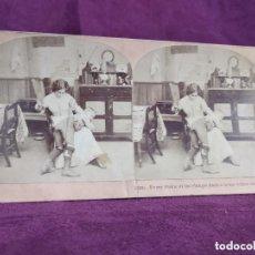 Fotografía antigua: S. XIX, ANTIGUA FOTOGRAFÍA ESTEREOSCÓPICA ARTÍSTICA, CADA TINTINEO, 1897. Lote 135765854