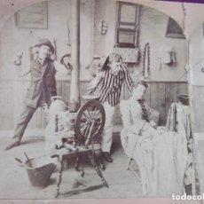 Fotografía antigua: S. XIX, ANTIGUA FOTOGRAFÍA ESTEREOSCÓPICA ARTÍSTICA, AMOR Y CELOS, 1892. Lote 135766078