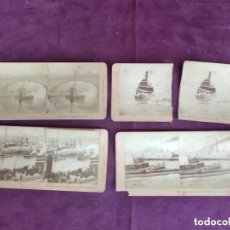 Fotografía antigua: S. XIX, LOTE DE 4 ANTIGUAS FOTOGRAFÍAS ESTEREOSCÓPICAS, ESCENAS BARCOS, DESDE 1889, B. W. KILBURN. Lote 135774466