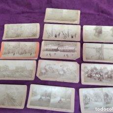 Fotografía antigua: S. XIX, GRAN LOTE DE 13 ANTIGUAS FOTOGRAFÍAS ESTEREOSCÓPICAS, VARIOS TEMAS,DESDE 1888 B. W. KILBURN. Lote 135774734