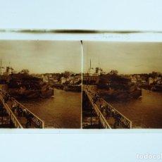 Fotografía antigua: BIARRITZ, FRANCIA - PLACA POSITIVO EN CRISTAL ESTEREOSCOPICO - AÑO 1913. Lote 138023310