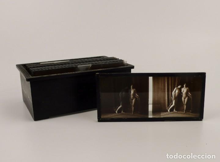Fotografía antigua: Fotografías eróticas artísticas - Colección de 15 fotografías estereoscópicas - Ca.1900 - Foto 2 - 138597814