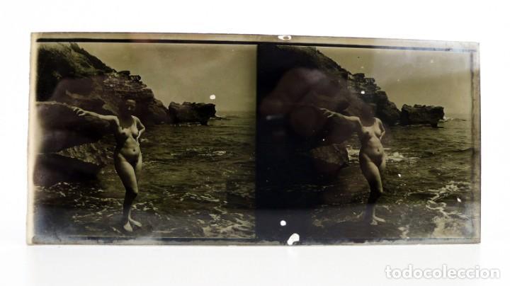 Fotografía antigua: Fotografías eróticas artísticas - Colección de 15 fotografías estereoscópicas - Ca.1900 - Foto 8 - 138597814