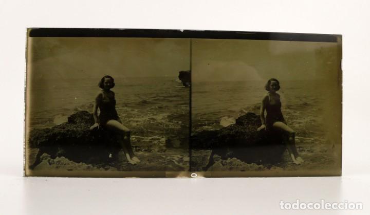 Fotografía antigua: Fotografías eróticas artísticas - Colección de 15 fotografías estereoscópicas - Ca.1900 - Foto 10 - 138597814