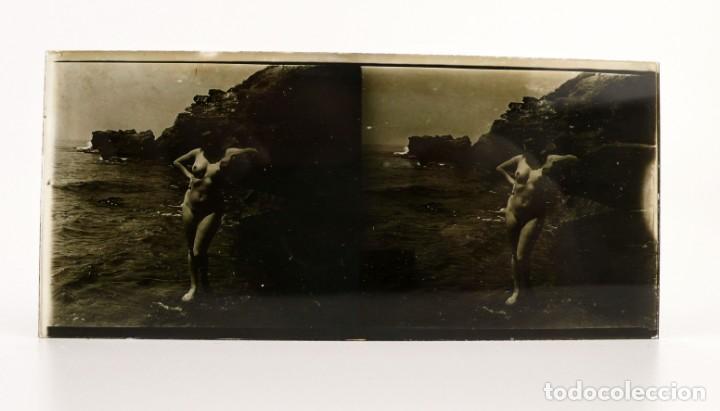 Fotografía antigua: Fotografías eróticas artísticas - Colección de 15 fotografías estereoscópicas - Ca.1900 - Foto 13 - 138597814