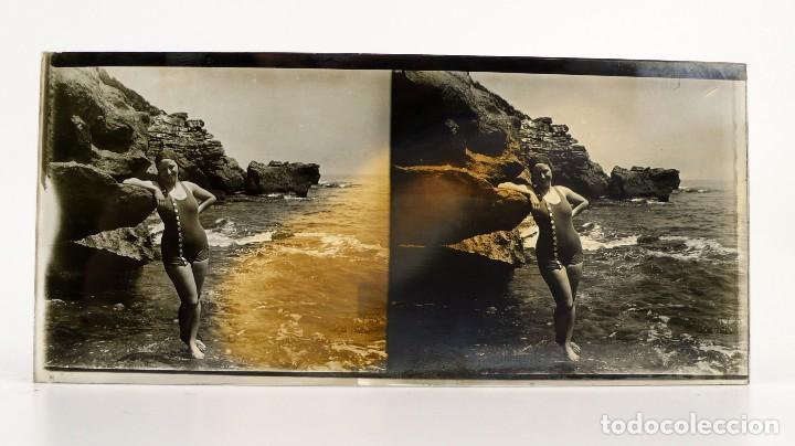 Fotografía antigua: Fotografías eróticas artísticas - Colección de 15 fotografías estereoscópicas - Ca.1900 - Foto 16 - 138597814