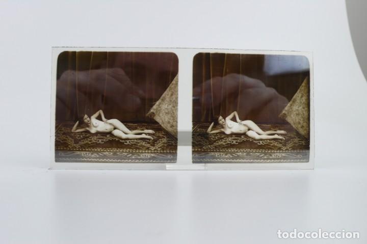 Fotografía antigua: Fotografías eróticas artísticas - Colección de 15 fotografías estereoscópicas - Ca.1900 - Foto 18 - 138597814