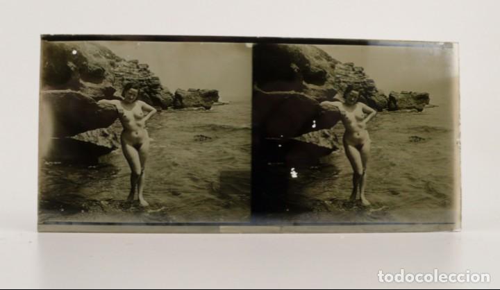 Fotografía antigua: Fotografías eróticas artísticas - Colección de 15 fotografías estereoscópicas - Ca.1900 - Foto 19 - 138597814