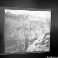 Fotografía antigua: PLACA ESTEREOSCOPICA LOCALIDAD A IDENTIFICAR SOBRE EL 1900. Lote 139544709