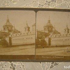 Fotografía antigua: ALBUMINA ESTEREOSCOPICA ESCORIAL. COLLECTION UNIVERSELLE. EDITION E.H. PARIS. EN BUEN ESTADO. Lote 139587298