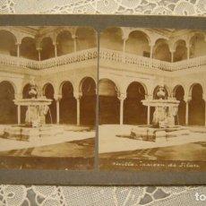 Fotografía antigua: ALBUMINA ESTEREOSCOPICA SEVILLA CASA DE PILATOS. EN BUEN ESTADO EDICIONES E.H. PARIS COLECCION UNIVE. Lote 139588382