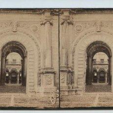 Fotografía antigua: ENTRADA AL ALCÁZAR DE TOLEDO, S.XIX. 9X18 CM.. Lote 139771042