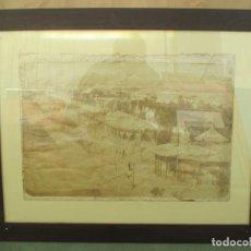 Fotografía antigua: ANTIGUA FOTOGRAFÍA DEL PARQUE GENOVÉS EN LA VELADA DE LOS ÁNGELES EN CÁDIZ. AÑO 1918. 52 X 34 CM. Lote 139786726