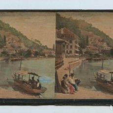 Old photograph - paisaje iluminado, foto: Adolphe braun, Dornach. num 1157. s.XIX 9 x 18 cm. - 139865062