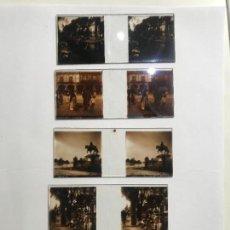 Fotografía antigua: LOTE DE 5 CRISTALES ESTEREOSCOPICOS CON IMAGENES DE MEXICO MEJICO PRINCIPIOS DE SIGLO XX. Lote 139880522