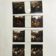 Fotografía antigua: LOTE DE 5 CRISTALES ESTEREOSCOPICOS CON IMAGENES DE MEXICO MEJICO PRINCIPIOS DE SIGLO XX. Lote 139880782