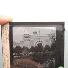 Fotografía antigua: PLACA LINTERNA MÁGICA MADRID PALACIO DE LA INDUSTRIA Y LAS ARTES SOBRE EL 1900. Lote 140471590