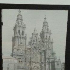Fotografía antigua: 2 PLACAS LINTERNA MÁGICA COMPOSTELA GALICIA AÑO 1890 - 1900. Lote 140494816