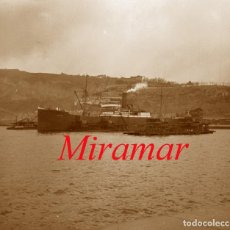 Fotografía antigua: BARCELONA - PORT - MIRAMAR - 1920'S - NEGATIU DE VIDRE. Lote 140496682