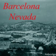 Fotografía antigua: PUTXET - BARCELONA - NEVADA - 1910 - 1915 - NEGATIU DE VIDRE . Lote 71802875