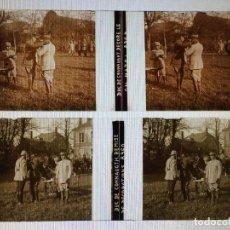 Fotografía antigua: PLACA ESTEREOSCOPICA - DUQUE CONNAUGHT CONDECORA AL GENERAL MAZEL - WW1 - PRIMERA GUERRA MUNDIAL. Lote 140526314