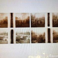 Fotografía antigua: PLACA ESTEREOSCOPICA - ZEPELIN DERRIBADO EN COMPIÈGNE FRANCIA - WW1 - PRIMERA GUERRA MUNDIAL. Lote 140527050