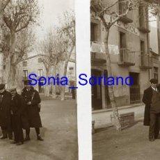 Fotografía antigua: CENTELLES, CENTELLAS, BARCELONA, POSADA DE GIOL, RAMON GIOL - CRISTAL POSITIVO ESTEREOSCOPICO. Lote 141479814