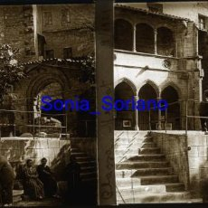 Fotografía antigua: PLASSA MERCAT, PLAZA MERCADO, BARCELONA? AÑO 1921 - CRISTAL POSITIVO ESTEREOSCOPICO. Lote 141488074