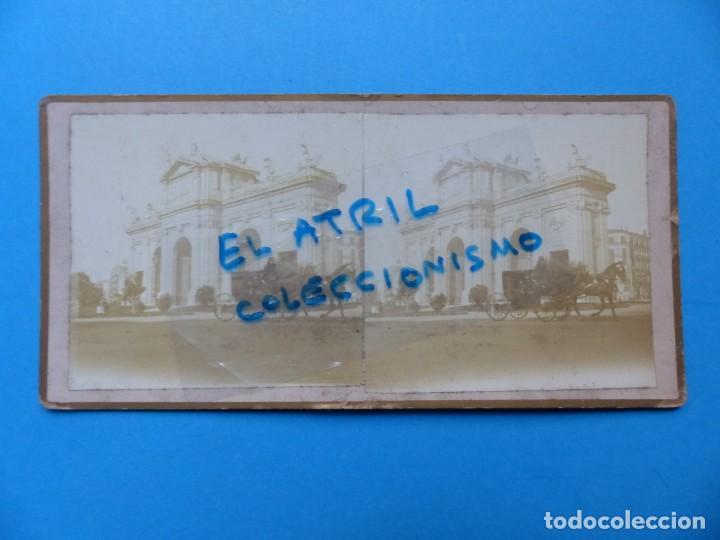 MADRID - PUERTA DE ALCALA - VISTA ESTEREOSCOPICA - AÑOS 1910-20 (Fotografía Antigua - Estereoscópicas)
