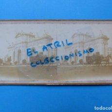 Fotografía antigua: MADRID - PUERTA DE ALCALA - VISTA ESTEREOSCOPICA - AÑOS 1910-20. Lote 142156230