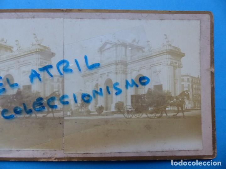 Fotografía antigua: MADRID - PUERTA DE ALCALA - VISTA ESTEREOSCOPICA - AÑOS 1910-20 - Foto 2 - 142156230