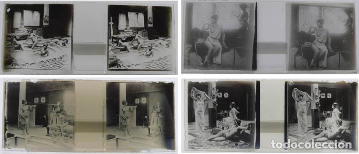 Fotografía antigua: Fotografías eróticas artísticas - Colección 64 fotografías estereoscópicas - Ca.1900 - Foto 2 - 142334502