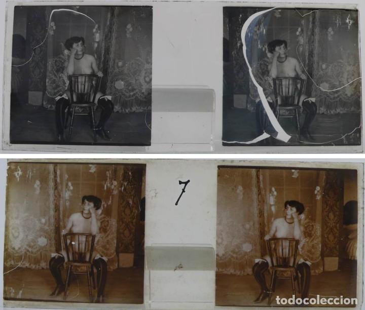 Fotografía antigua: Fotografías eróticas artísticas - Colección 64 fotografías estereoscópicas - Ca.1900 - Foto 3 - 142334502