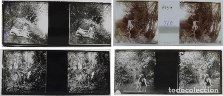 Fotografía antigua: Fotografías eróticas artísticas - Colección 64 fotografías estereoscópicas - Ca.1900 - Foto 4 - 142334502