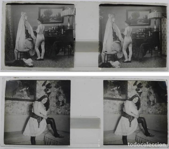 Fotografía antigua: Fotografías eróticas artísticas - Colección 64 fotografías estereoscópicas - Ca.1900 - Foto 5 - 142334502