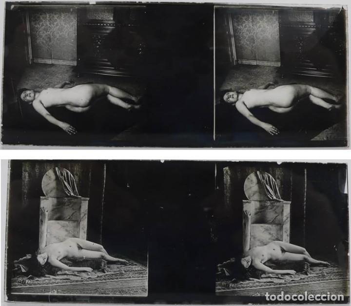 Fotografía antigua: Fotografías eróticas artísticas - Colección 64 fotografías estereoscópicas - Ca.1900 - Foto 6 - 142334502