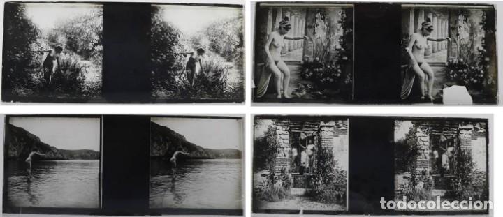 Fotografía antigua: Fotografías eróticas artísticas - Colección 64 fotografías estereoscópicas - Ca.1900 - Foto 7 - 142334502